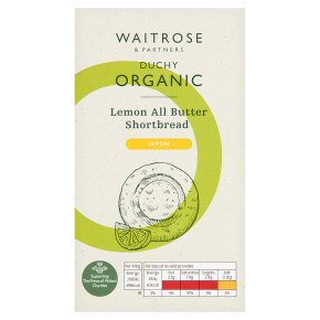 Waitrose Duchy Organic Sicilian lemon all butter shortbread