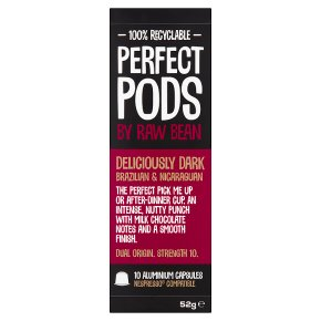 Perfect Pods by Raw Bean 10 Deliciously Dark