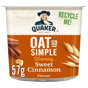 Quaker Oat So Simple sweet cinnamon porridge cereal pot