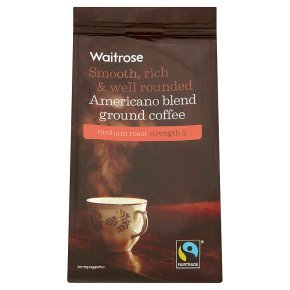Waitrose Fairtrade Americano blend ground coffee