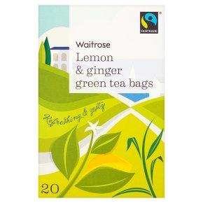 Waitrose Lemon & Ginger Green Tea Bags