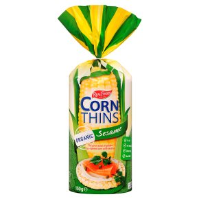 Real Foods Corn Thins Sesame