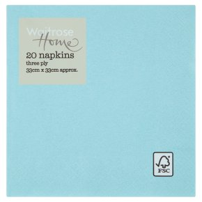 Waitrose Home blue napkins 33cm x 33cm