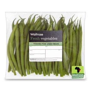 Waitrose green beans trimmed fine