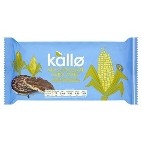 Kallo Milk Chocolate Corn Cakes