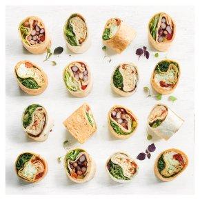 Vegetarian Wrap Platter, 18 pieces