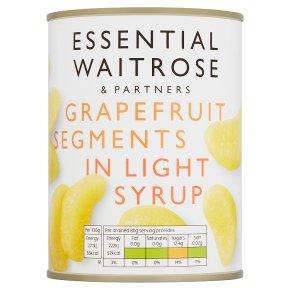 essential Waitrose grapefruit segments in syrup