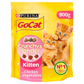 Go-Cat Crunchy and Tender Kitten Dry Cat Food Chicken