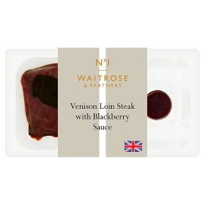 No.1 Venison Loin Steak & Blackberry Sauce