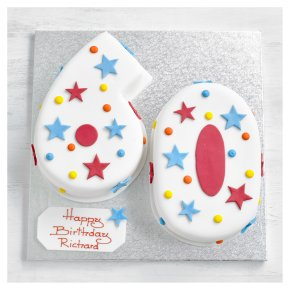 60th Birthday stars and dots cake