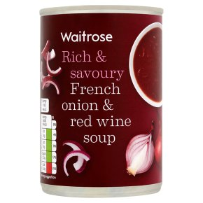 Waitrose French onion & red wine soup