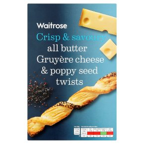 Waitrose cheese & poppy seed twists