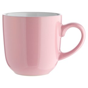 essential Waitrose pink mug