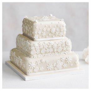 Blossom 3 Tier Ivory Wedding Cake  Lemon sponge (all tiers)