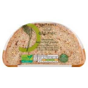 Waitrose Duchy Organic wholemeal seeded bloomer bread