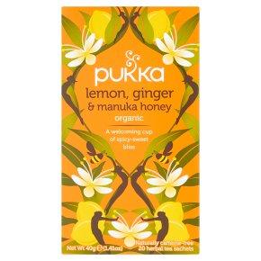 Pukka Lemon, Ginger & Manuka, Honey 20s