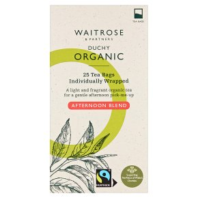 Waitrose Duchy Organic afternoon blend tea, 25 bags