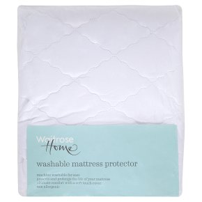 Waitrose Home king size washable mattress protector