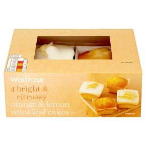 Waitrose orange & lemon mini loaf cakes