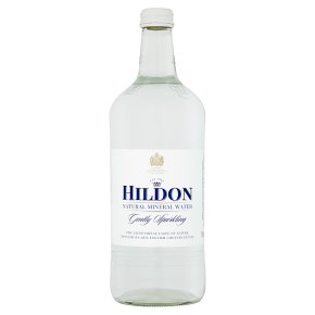 Hildon mineral water gently sparkling glass bottle