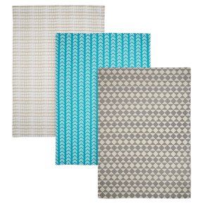 Waitrose Cooking Geometric Tea Towels