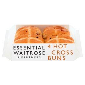 essential Waitrose hot cross buns