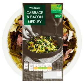 Waitrose Cabbage & Bacon Medley