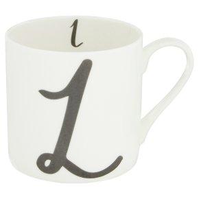 Waitrose 'L' Bone China Alphabet Mug