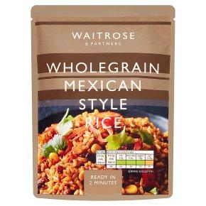 Waitrose Wholegrain Mexican Style Rice