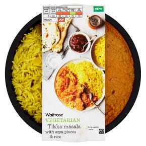 Waitrose Vegetarian Tikka Masala with Soya Pieces & Rice