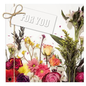Floral For You Happy Birthday Card