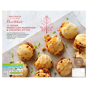 Waitrose Vegan Moroccan Mushroom & Chickpea Pittas