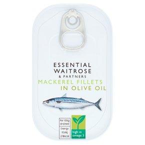 essential Waitrose Mackerel in Olive Oil