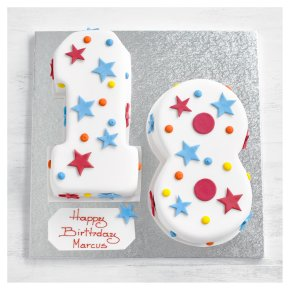 18th Birthday Stars and dots cake