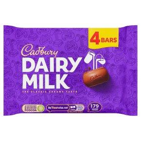 Cadbury Dairy Milk chocolate bar 4 pack
