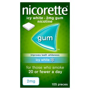 Nicorette icy white chewing gum, 2mg