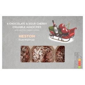 Heston from Waitrose chocolate and cherry mince pies