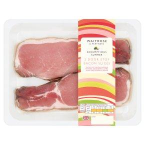 Waitrose 2 Door Stop Bacon Slices