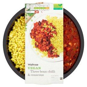Waitrose Vegan Three Bean Chilli & Couscous