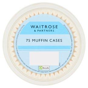 Waitrose Cooks' Homebaking white muffin cases
