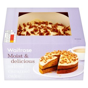 Waitrose salted caramel cake