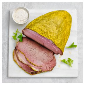 Rare Roast Beef with Mustard Crumb