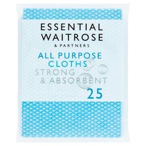 essential Waitrose All Purpose Household Cloths