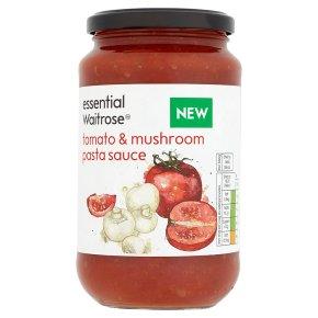essential Waitrose tomato & mushroom pasta sauce