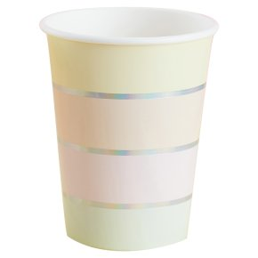 Ginger Ray 8 Iridescent Foiled Paper Cups
