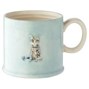 Waitrose Cat Embossed Mug