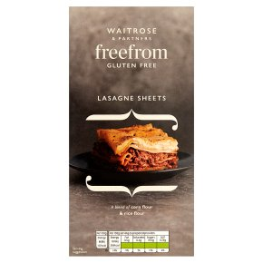Waitrose LoveLife Gluten Free lasagne sheets