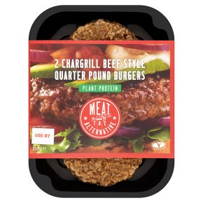 Meat the Alternative Chargrill Beef Style Quarter Pounders