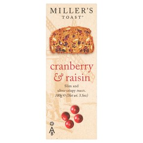 Miller's Toast cranberry & raisin