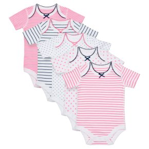 Waitrose 5PK Star&Stripe Bodysuits 6-9M